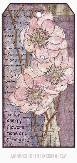 Beulah Bee: SA Flower Garden set - Under Cherries