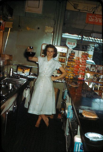 Vintage diner photo, circa 1950's