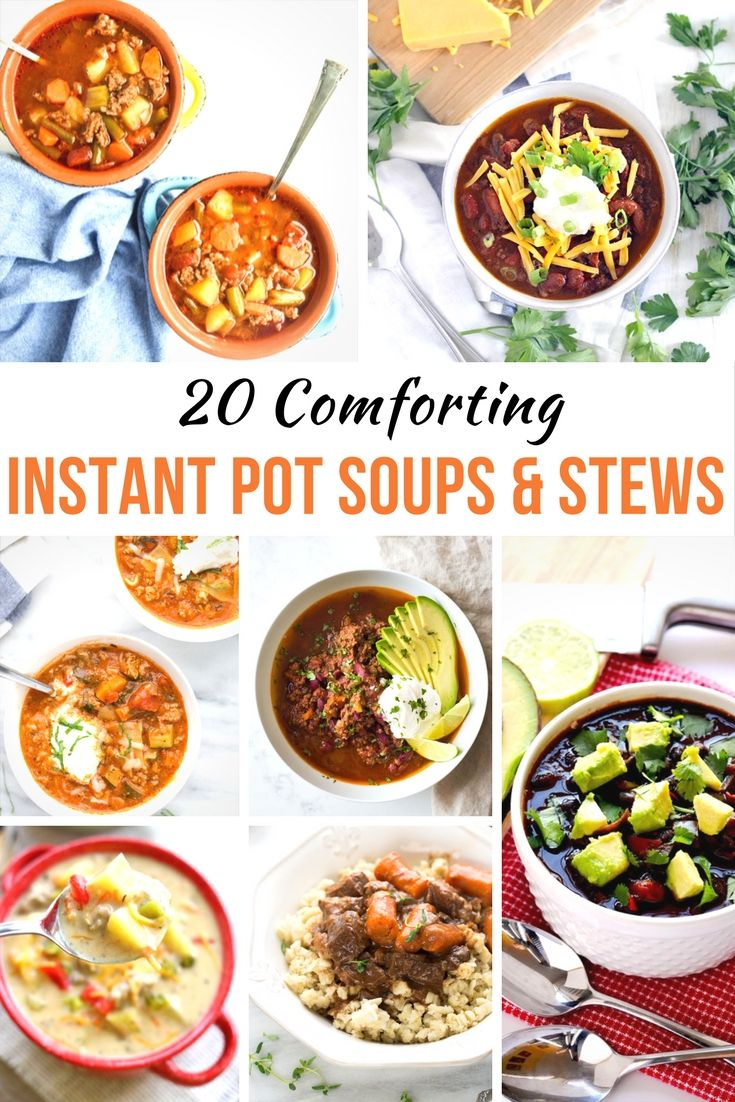 20 Comforting Instant Pot Soup Recipes - It's the time of year when the weather turns cold and we start to crave comfort foods. These Instant Pot soup recipes are sure to warm you up in no time! via @Mom4Real
