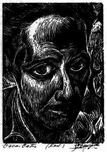 Oscar Castro retratado por Carlos Hermosilla