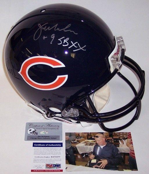 Jim McMahon Autographed Hand Chicago Bears Authentic Helmet - PSA/DNA
