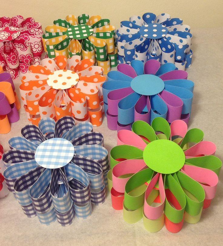 Flores con cartulinas bifaz decoraciones con papeles - Papeles para decoracion ...