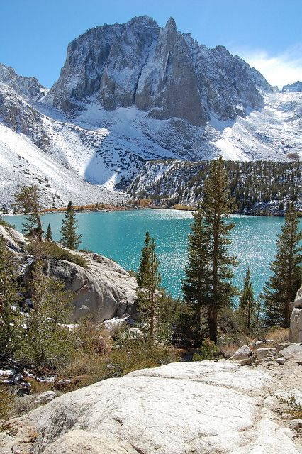 Second Lake, Temple Crag, Palisades region of the Sierra Nevada, near Big Pine, Inyo, California by The Cox Clan