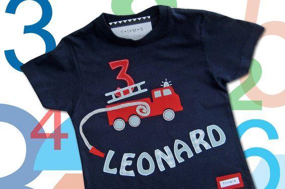 T-Shirts - Feuerwehr-Geburtstags-Shirt - ein Designerstück von T-I-M-S bei DaWanda