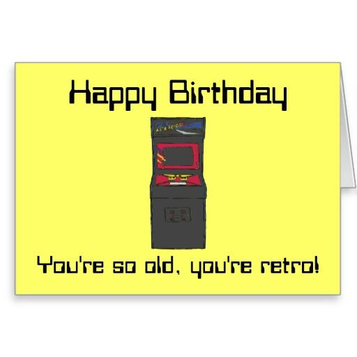 gamer Birthday | Retro Arcade Game - Gamer - Happy Birthday Greeting Card | Zazzle