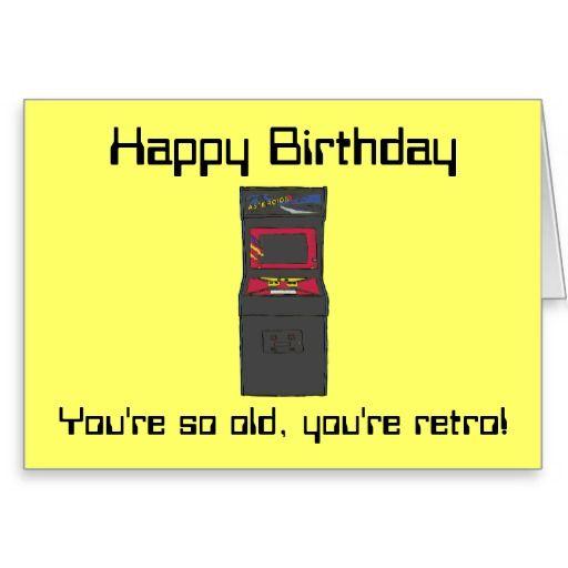gamer Birthday | Retro Arcade Game - Gamer - Happy Birthday Greeting Card | Zazzle