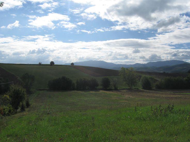 Mugello, il paesaggio nei pressi di Sant'Agata