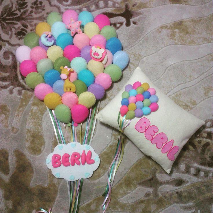 Baloon Balon kapı süsü  Takı yastığı