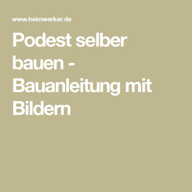 """Ausentreppe Mit Podest Holz Selber Bauen ~ Über 1 000 Ideen zu """"Podest Bauen auf Pinterest  Podest"""
