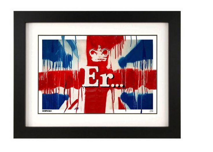 Banksy ~ Er... Union Jack