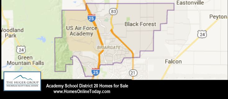 Academy School District 20 Colorado Springs Map and Homes for Sale