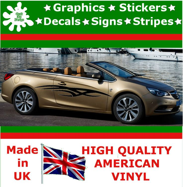 """10"""" High Car Side Stripes Graphic Decal Vinyl Stickers Van Auto Rally Race F3_31"""