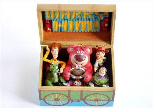 トイストーリーのリングボックス。