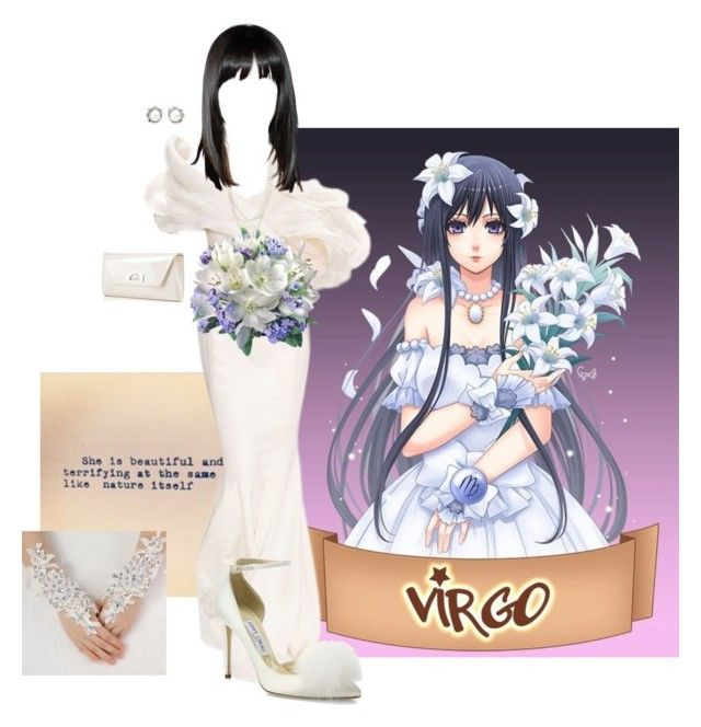 """Virgo"" by teresarussell49 ❤ liked on Polyvore featuring RALPH & RUSSO, Jimmy Choo, Bloomingdale's, Tiffany & Co. and Christian Louboutin"