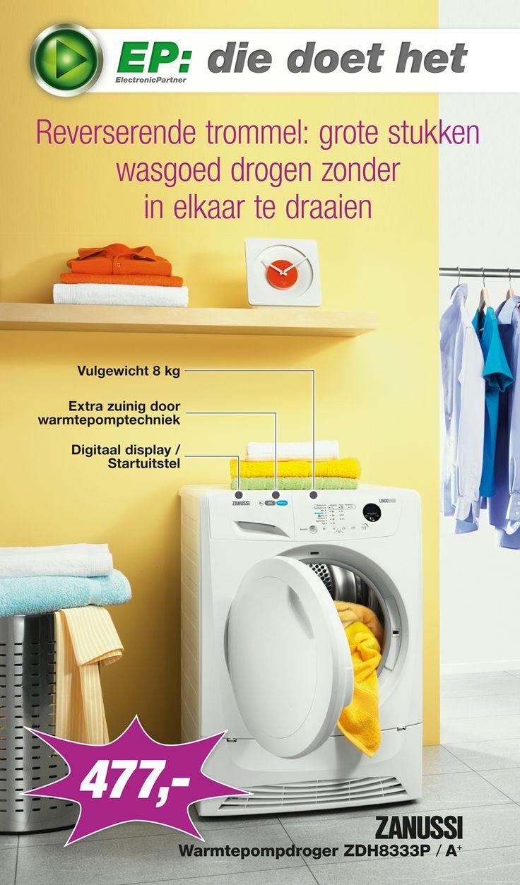 Week 33 van onze spectaculaire E-Poster is online! Met in de actie van deze week: Zanussi Warmtepompdroger ZDH8333P! (2/2)