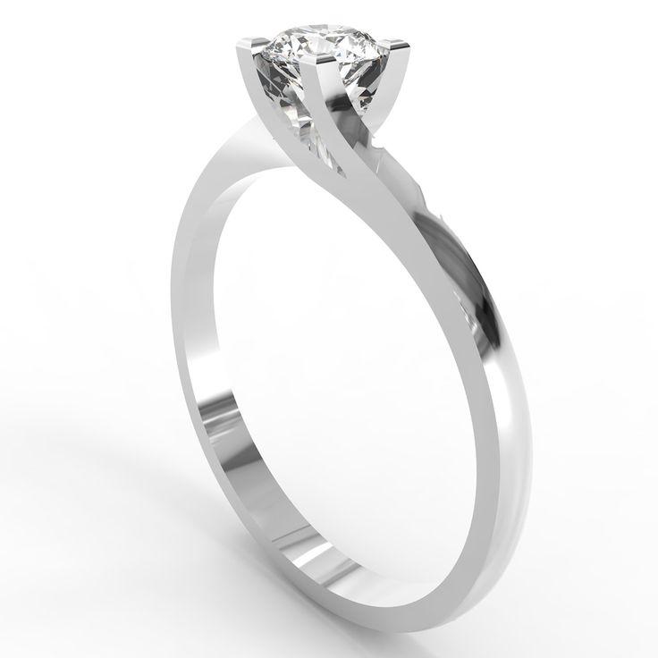Inel cu diamant Vivian's perfect twist