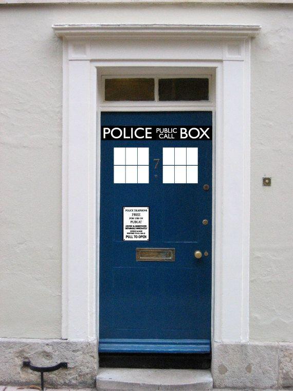 dr.who police box DOOR. so good.