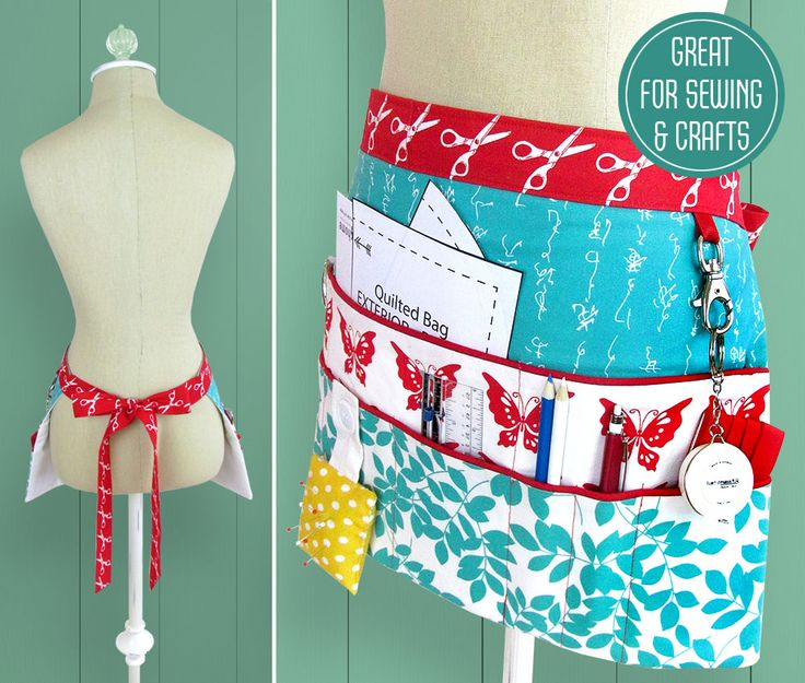 Sewing and Craft Half Apron - free pattern @ Sew4Home