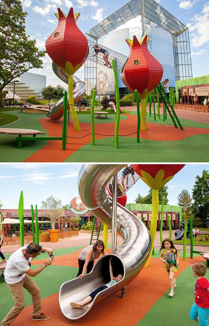 Unos Daneses Crean Los Mejores Parques Infantiles Del Mundo Mundial Cultura Inquieta Parques Infantiles Diseño De Patio De Recreo Parques