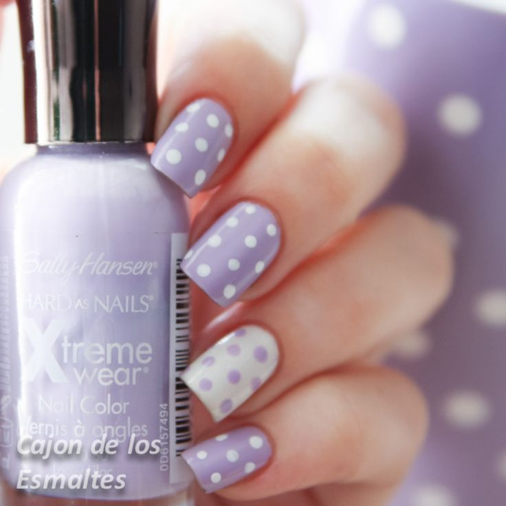 Polka dots nail arts are quite easy to make; with some small efforts, attractive nails will be yours and you can show them confidently in every occasion.