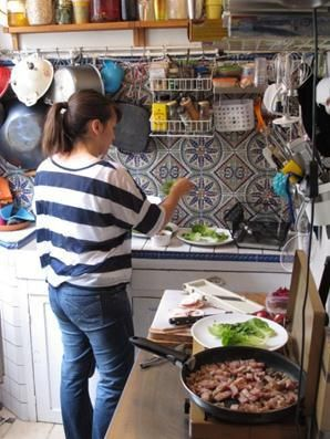 little paris kitchen rachel khoo,its amazing what she has done in such a small kitchen!!