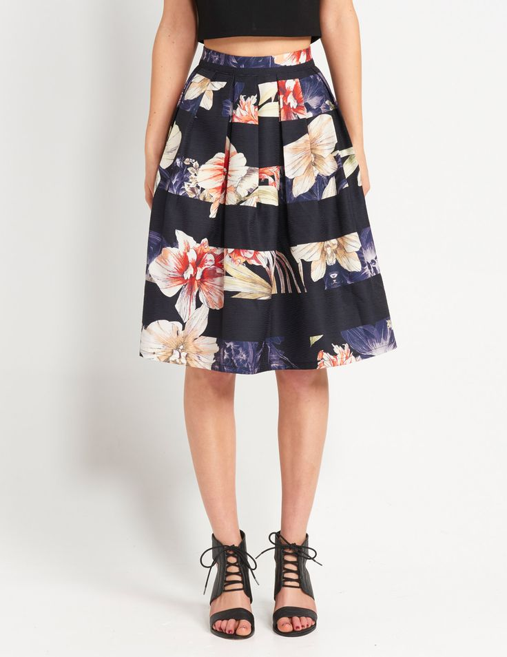 Image for Fancy Floral Midi Skirt from Dotti