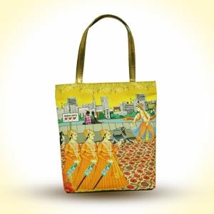 The Royal Stag Stylish Handbag with Golden Handles   MRP - Rs. 1395