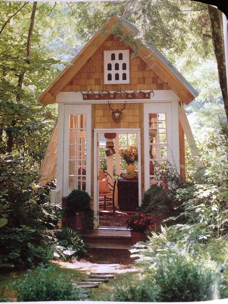 I need lots of windows.  Tall windows are even better. the more daylight that can come in, the more perfect for my peaceful writing studio!!   Backyard cottage