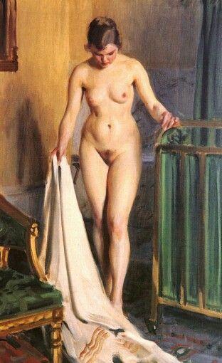 Anders Zorn,i-sangkammaren (the bedchamber), 1918