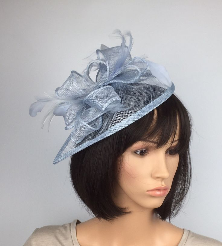 A personal favourite from my Etsy shop https://www.etsy.com/uk/listing/519989922/very-pale-blue-pastel-blue-fascinator