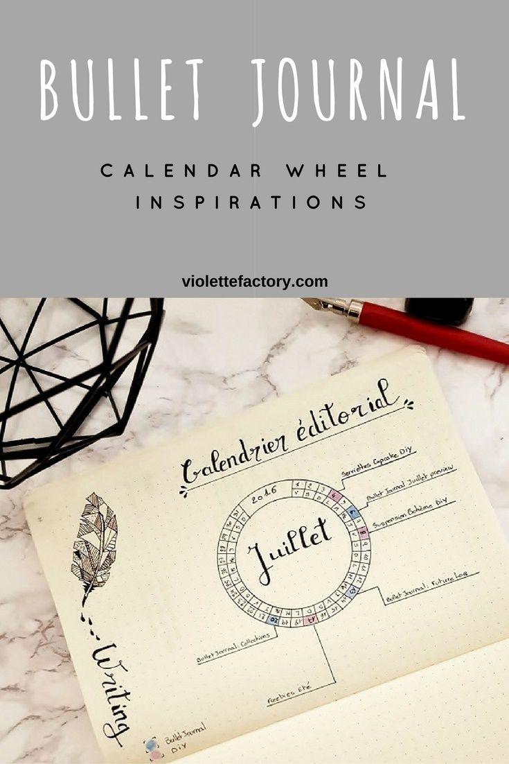 Calendar Wheel Bullet Journal : Les meilleures images à propos de bullet journal