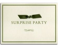 Bow Surprise Party Invitation from Heritage Stationary