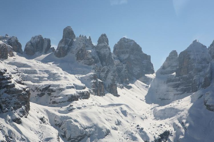 Skiing Madonna di Campiglio, Italian Dolomites