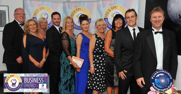Gold award winners at The Pembrokeshire Business Awards