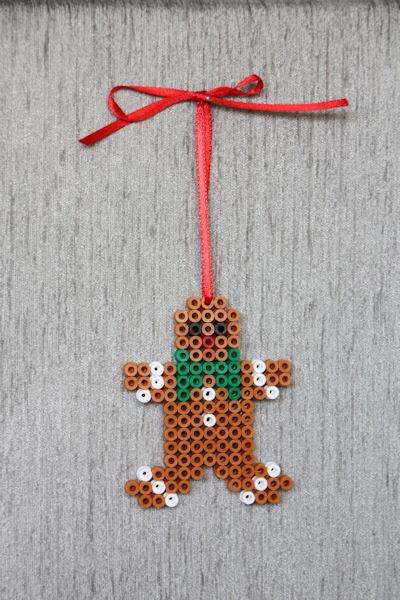 Gingerbread Man perler beads