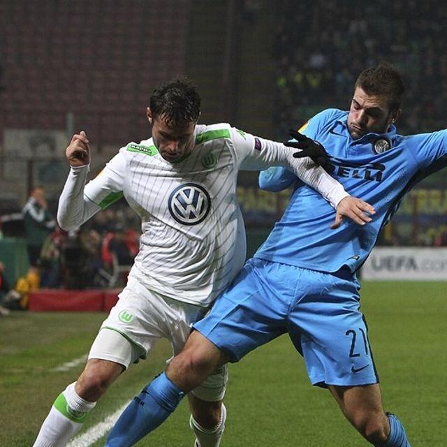 Christian #Trasch #Wolfsburg contro Davide #Santon #Inter