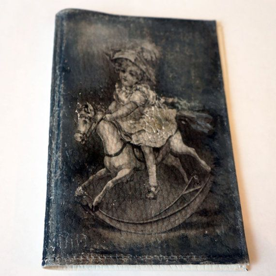 Leather Passport Holder Monogram Passport Cover by elenaaleshina
