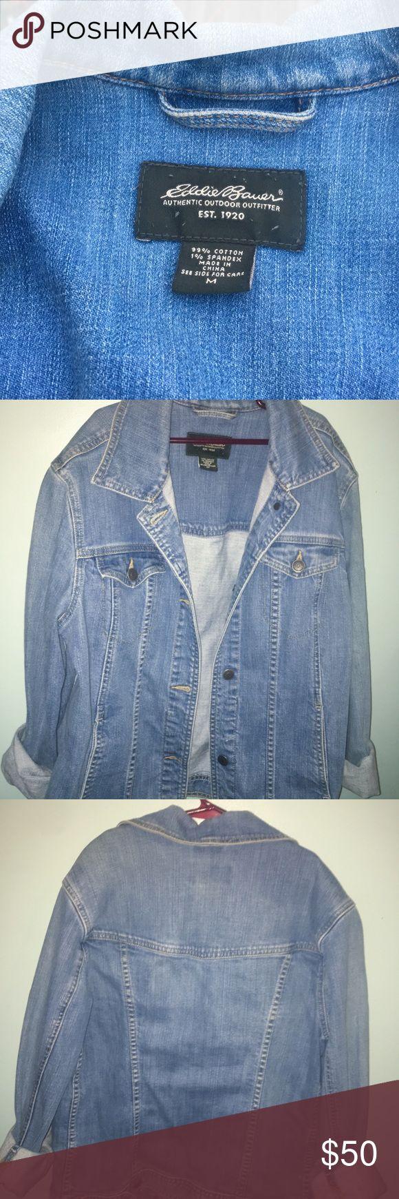 Eddie Bauer denim jacket Great condition, authentic eddie bauer outdoor outfitters. Light wash blue denim, size medium jacket Eddie Bauer Jackets & Coats Jean Jackets
