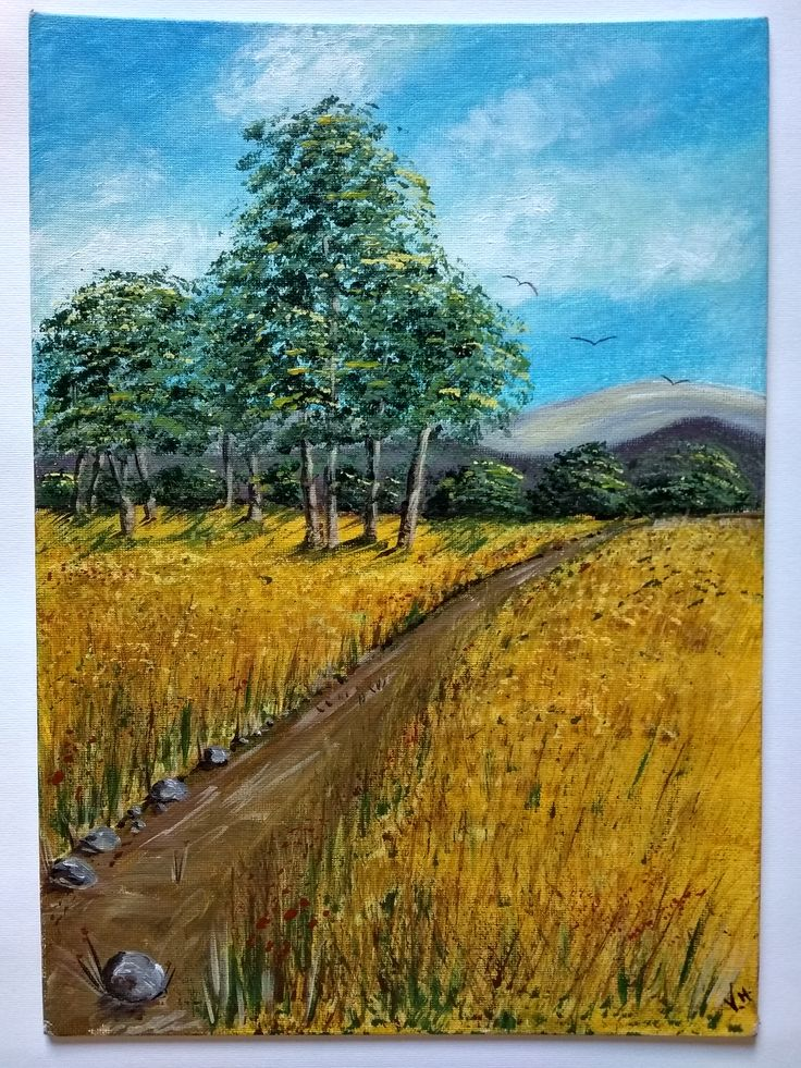Acrylic painting / Handmade / Gift / Wall Hanging / Wall Art / Home Decor