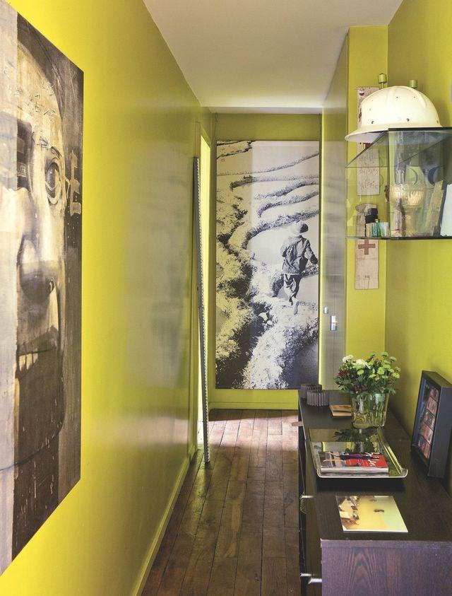 Un couleur zoning pour casser la longueur du0027un couloir en y - idee peinture entree couloir