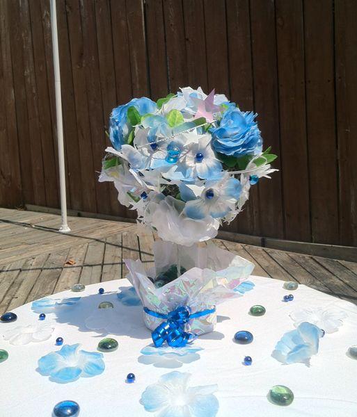 Topiary wedding center piece (dollar store challenge) - CRAFTSTER CRAFT CHALLENGES