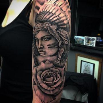 Realistas Fotografias De Tatuajes De Indias Guerreras Tt