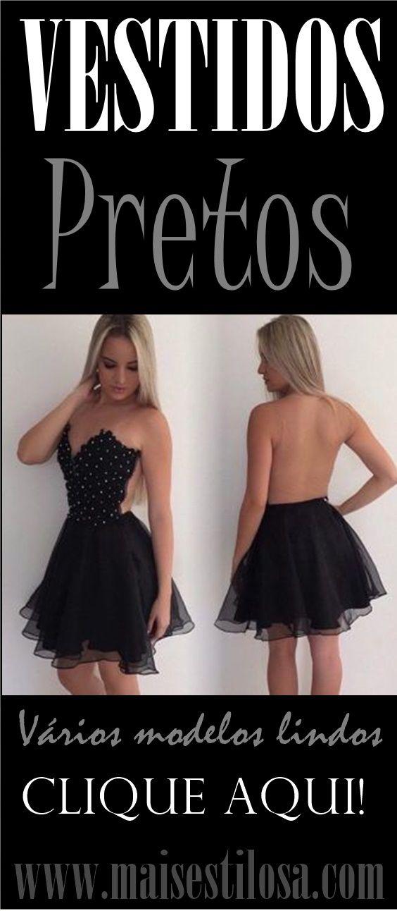 VESTIDOS PRETOS CURTOS PARA FESTAS E DIVERSAS OCASIÕES: Modelos Incríveis! #vestidos #vestidospretos #vestido #vestidocurto #vestidodefesta #dress #vestidoderenda #vestidoscurtos #moda #dicasdemoda #modafeminina