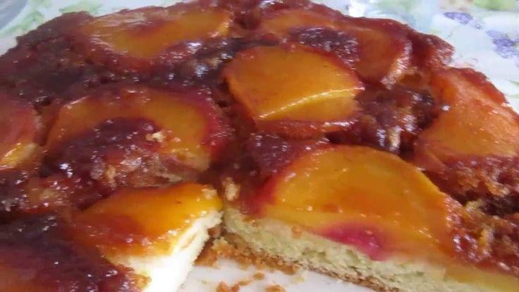 Карамельно-фруктовый пирог.Супер вкусный, нежный и сочный пирог.