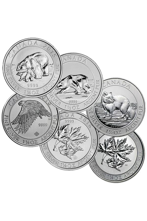 Canadian 1 5 Oz Rcm Silver Commemorative Coins Bu Various Designs Coins Commemorative Coins