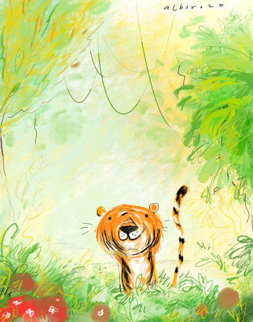 Alborozo tiger illustration