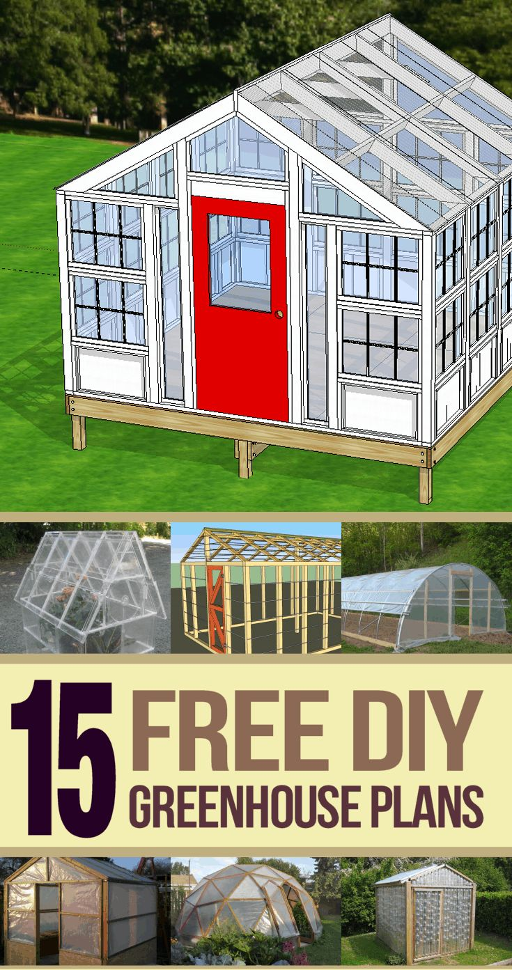 Over 15 free greenhouse plans that you can build on any budget. We also have a bonus plan that you can download.