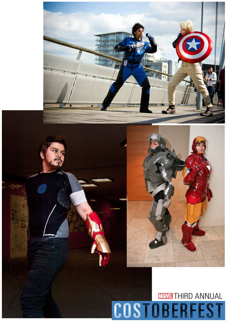 Costoberfest 2013 - Day 03  Tony Stark comes to life! Introducing Priya & Anna, Pasta, and Michelle & fellow cosplayer. Hailing from Germany & the US, all these cosplayers take pride in creating unique and accurate costumes using all kinds of tools, including fabric, foam, fiberglass and LEDs!  Photos by Shawn Photo, Abyssinian, and FrameShot.  Marvel's use of all photos are governed by the Marvel.com Terms of Use and Privacy Policy.