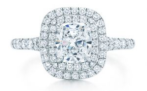 Tiffany Soleste engagement ring.