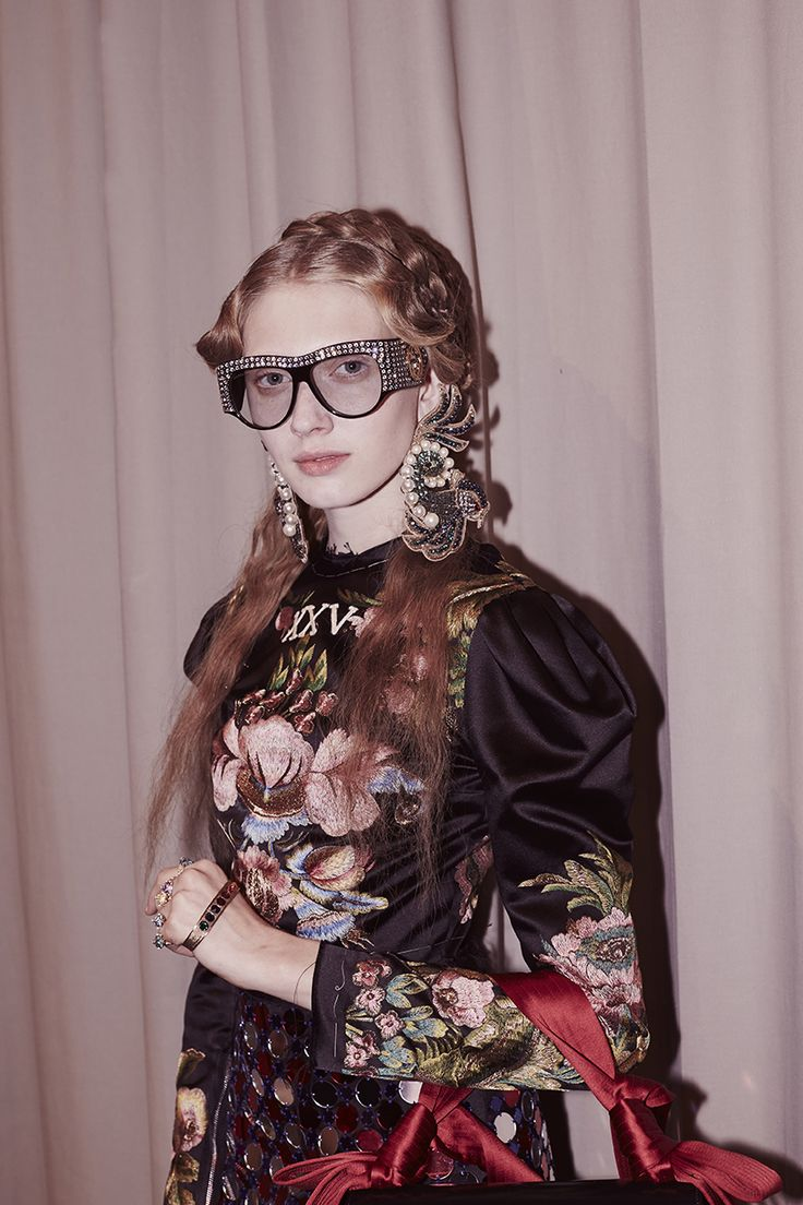 Backstage at the Gucci Women's Spring Summer 2017 Fashion Show
